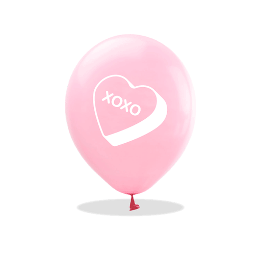 Candy Heart Latex Balloons