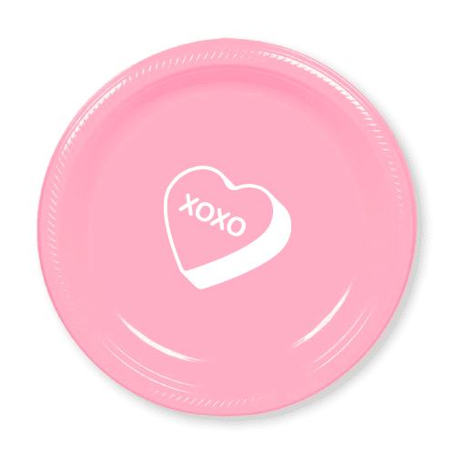 Candy Heart Plastic Plates