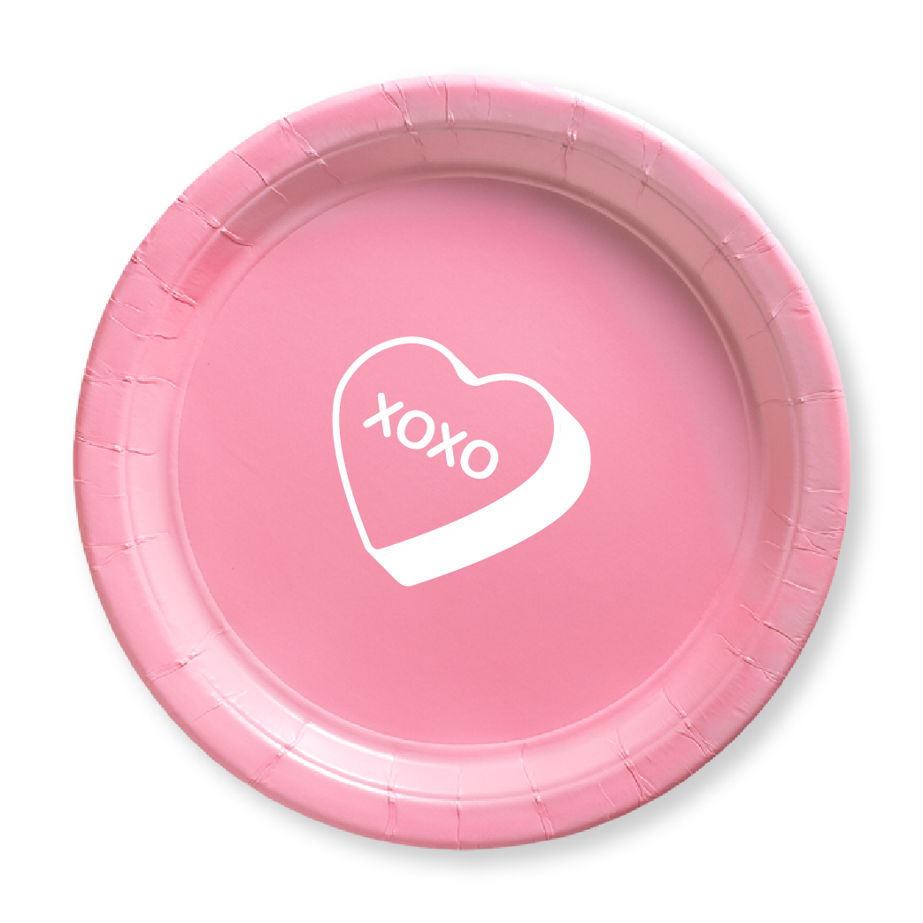 Candy Heart Paper Plates