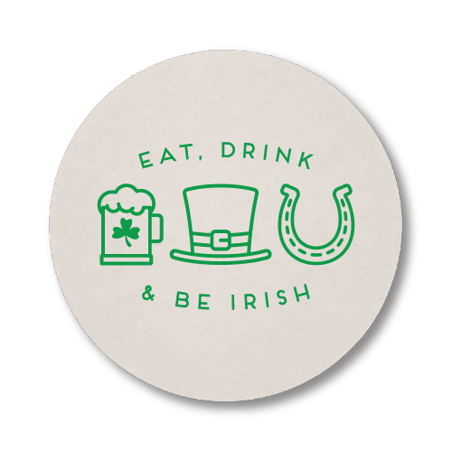 Eat Drink and Be Irish Coasters