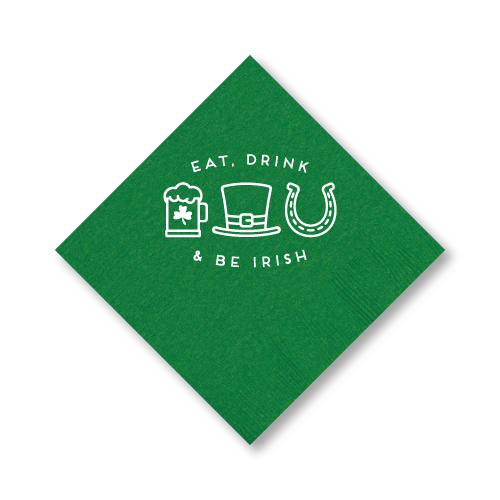 Eat Drink and Be Irish Cocktail Napkins