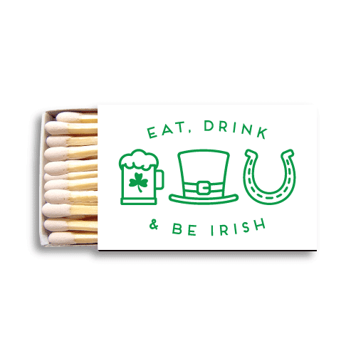 Eat Drink and Be Irish Matchboxes