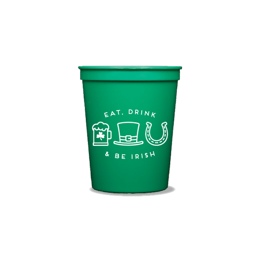 Eat Drink and Be Irish Party Cups