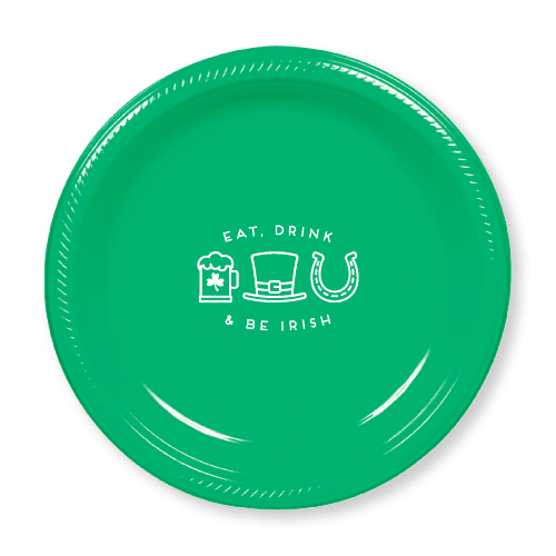 Eat Drink and Be Irish Plastic Plates