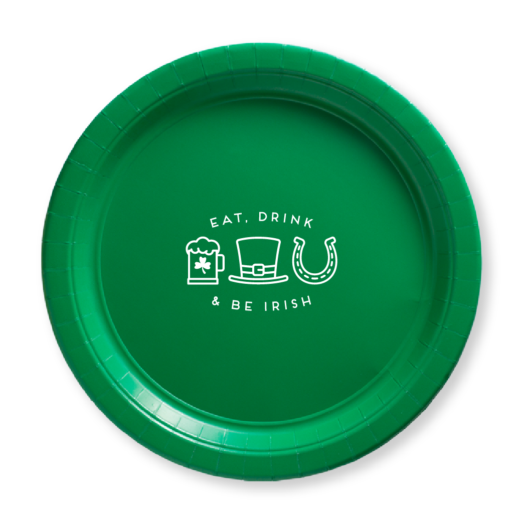 Eat Drink and Be Irish Paper Plates