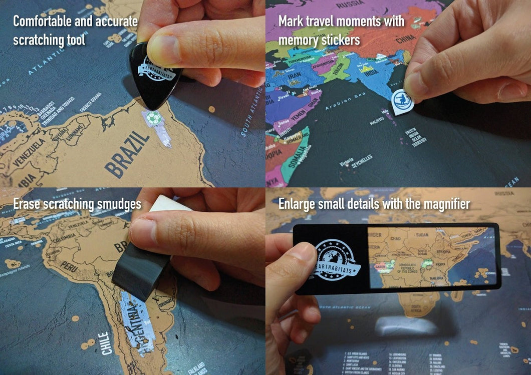 Scratch Off World Map With Us States.Earthabitats Scratch Off World Map Poster With Us States And