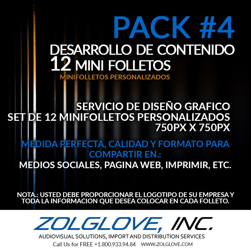 content development for social media set of 12 pack mini flyers