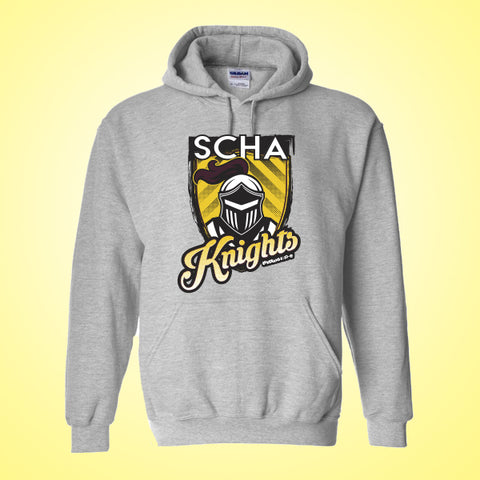 SCHA - Gray Hooded Sweatshirt
