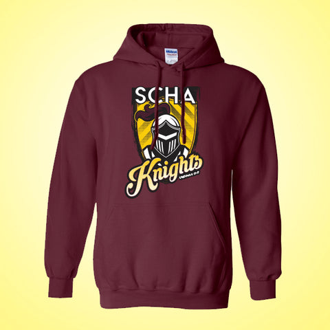 SCHA - Maroon Hooded Sweatshirt