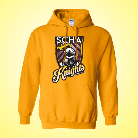 SCHA - Gold Hooded Sweatshirt