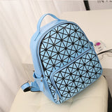 Glossy Geometric Backpack - 5 Colors