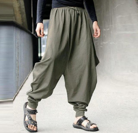 Drop Crotch Harem Pants