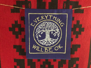 Everything Will Be Ok  tree of life blue banner  Ewbok