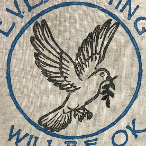 everything will be ok Peace dove banner ewbok