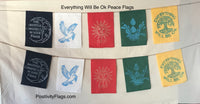 Everything will be OK  Peace Flags, 5 flags set, Positivity Banner and Flags