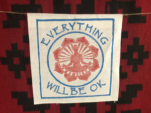 Everything Will Be Ok  radiant meditator white banner  Ewbok
