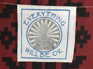 Ewbok Shining Buddha  White Banner  Everything Will Be Ok
