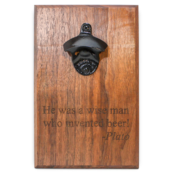 Bottle Opener Wall Mount with Quote