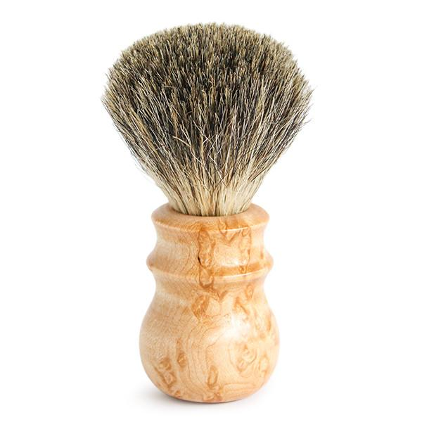 Birdseye Maple Pure Badger Heritage Shave Brush