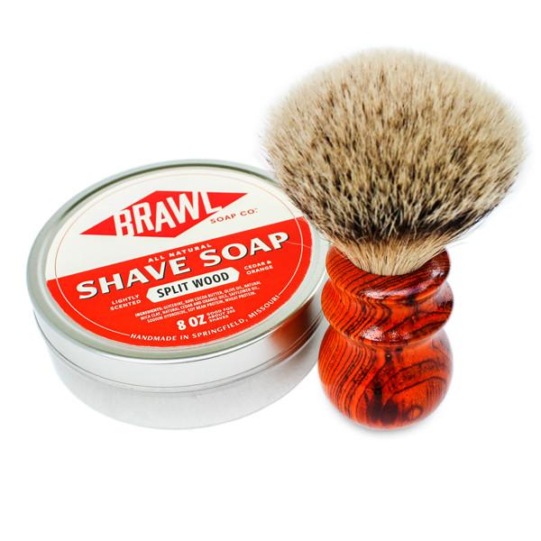 Silvertip Heritage Brush With Split Wood Shave Soap