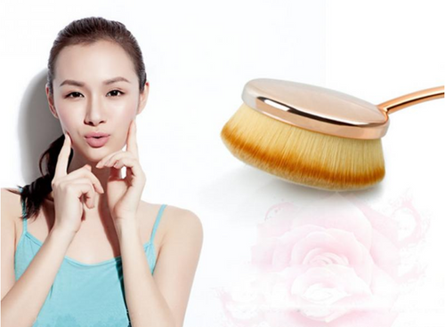 10 Piece Soft Oval Makeup Brushes