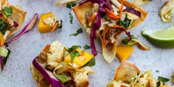 Crispy Asian Chicken Wonton Tacos Recipe