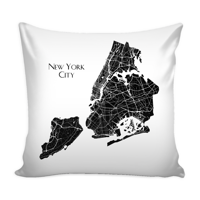 New York City Map - Pillow Cover