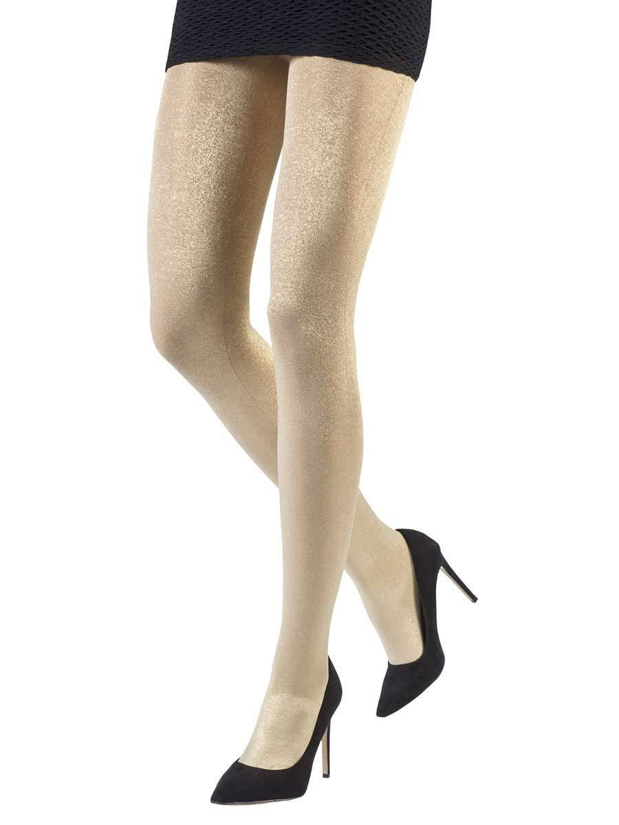 Metallic Gold Tights 50 Denier