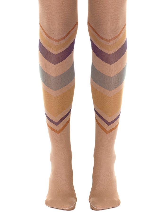 Geometric Sheer Tights