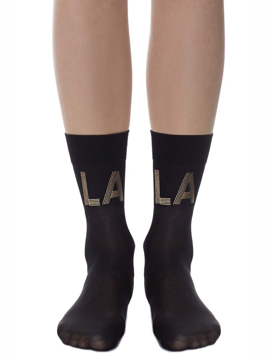 La-La Land Sheer Black Socks