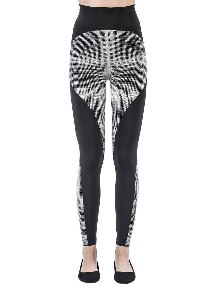 Tecno Grid Black&White Leggings