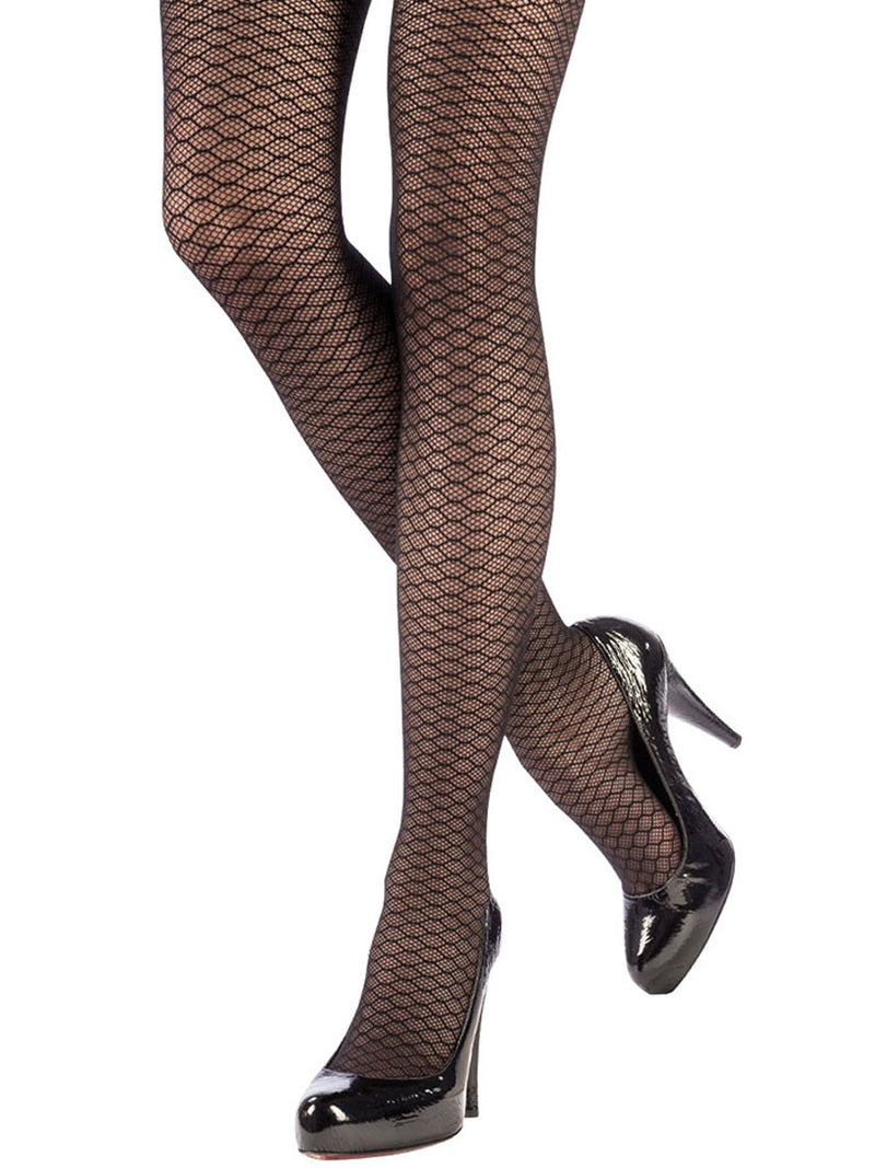 HONEYCOMBED TIGHTS BLACK