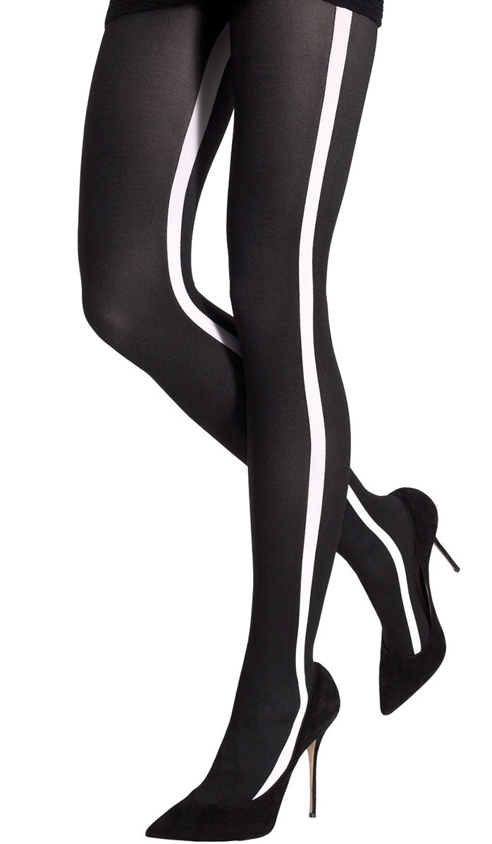 Sport Band Tights T5296-BLKWHT