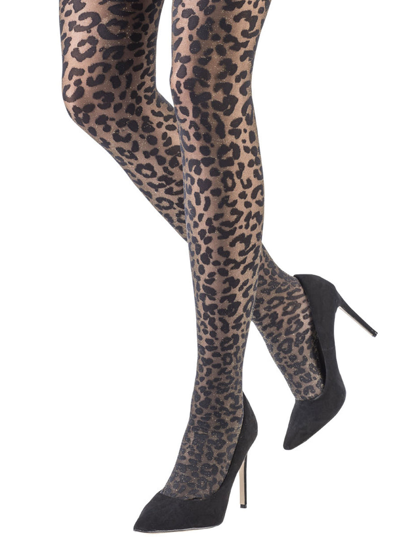 Sparkle Leopard Tights