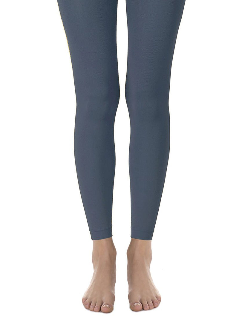 Blue-Grey Opaque Footless Tights