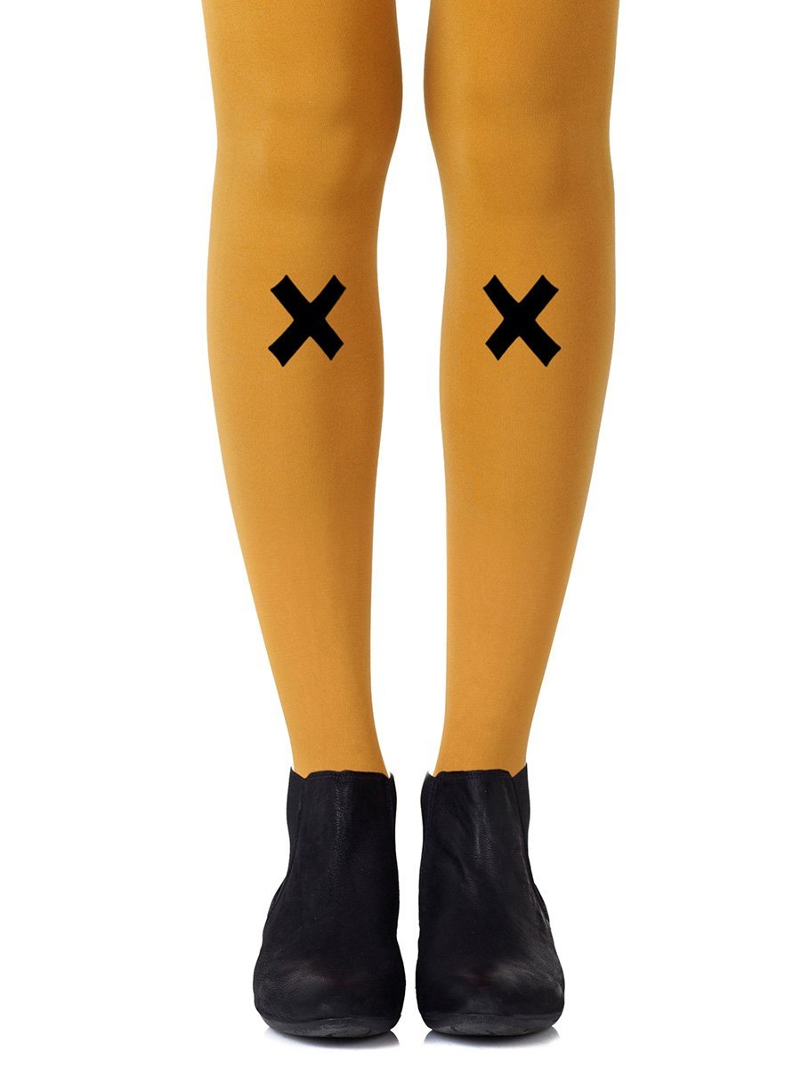 Kiss and Tell Mustard Tights