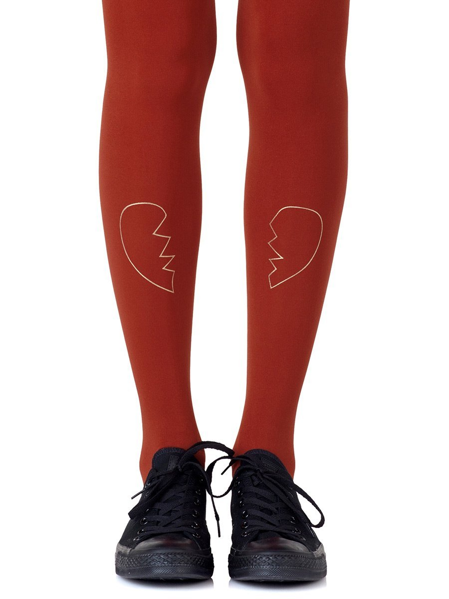 Heartbreaker Rust Tights