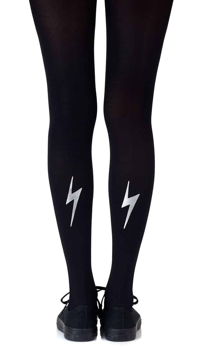 Electric Feel Silver Tights