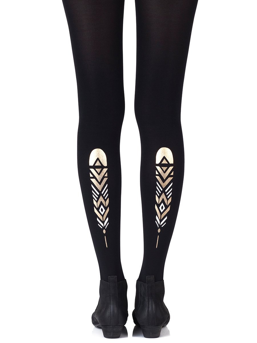 Birds of the Same Feather Black Tights