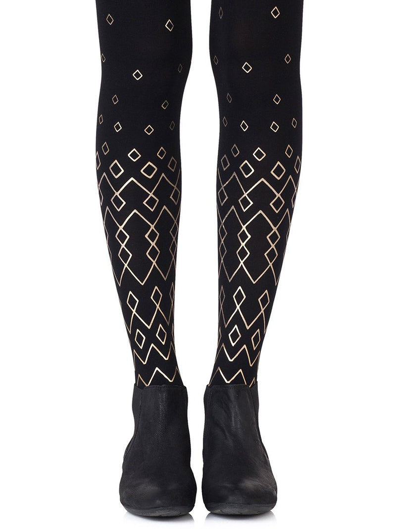 Diamonds Are Forever Black Tights