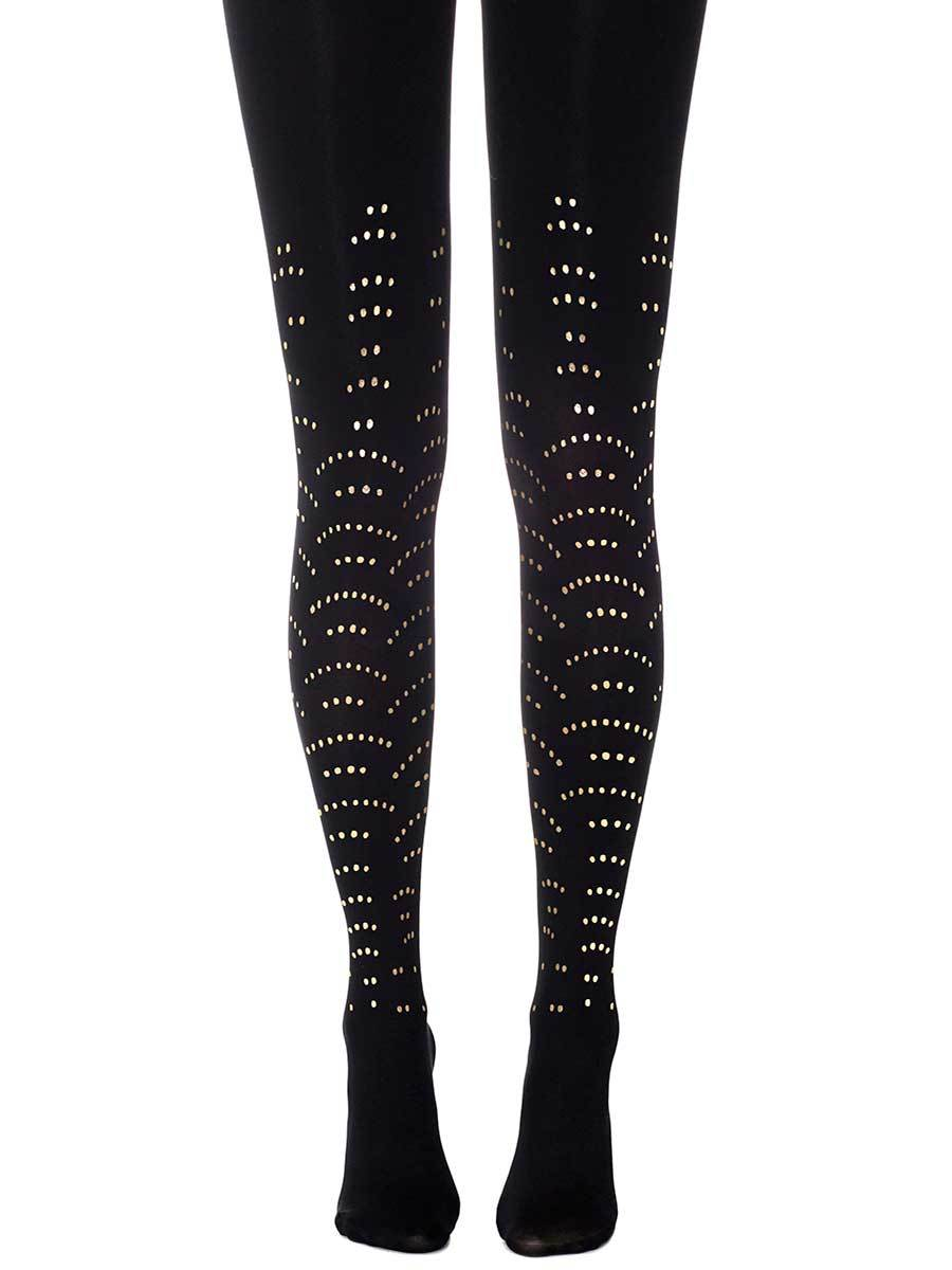 Disco Queen Black Tights
