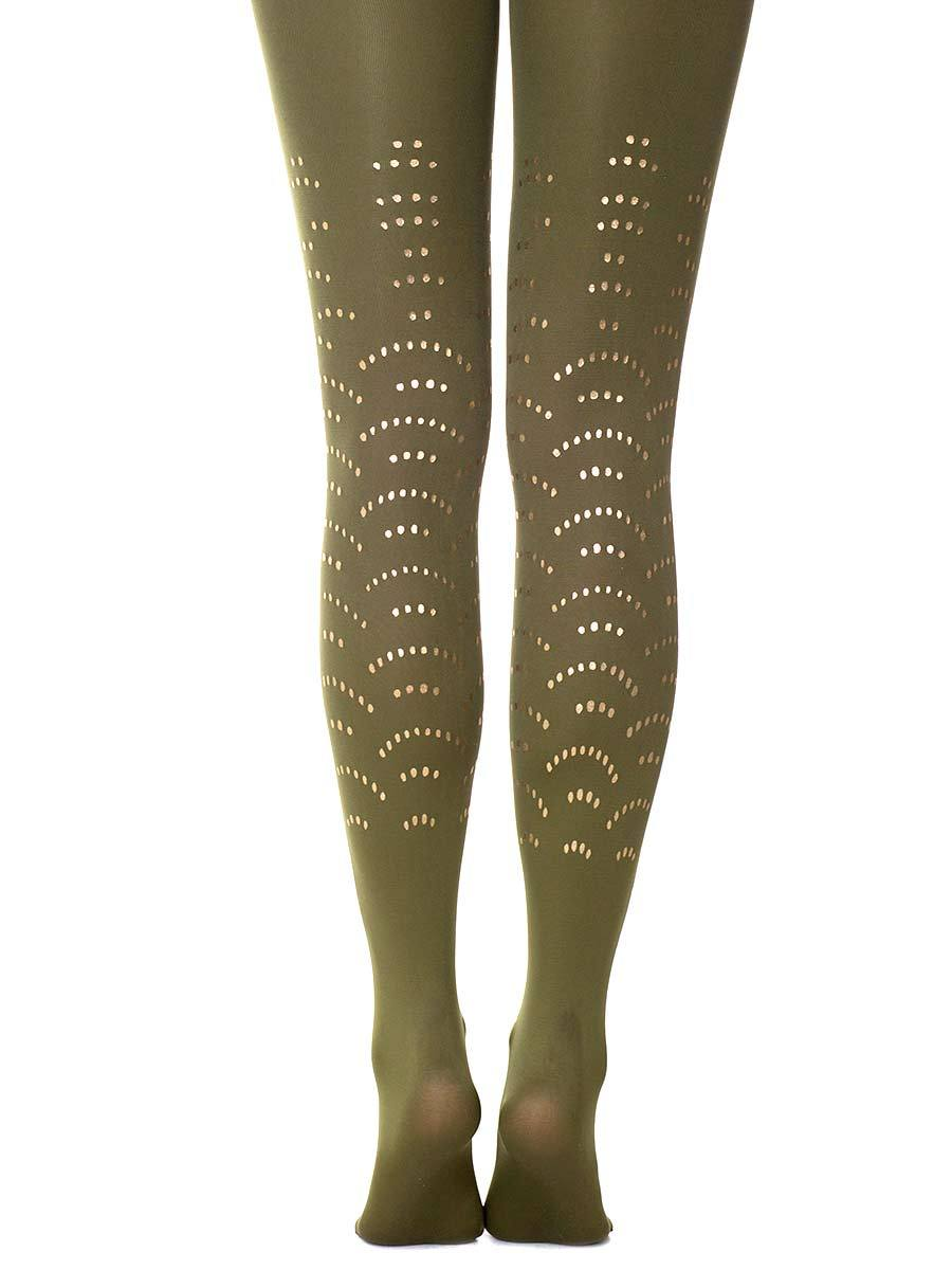 Disco Queen Army Green Tights