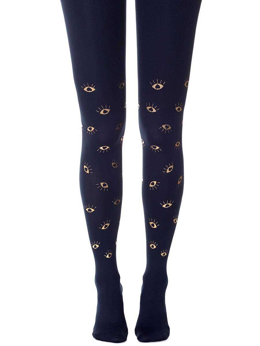 All Eyes on Us Navy Tights