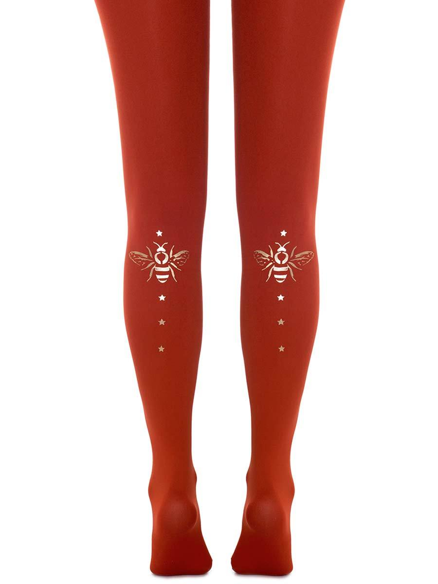 Fly Away with Me Rust Tights