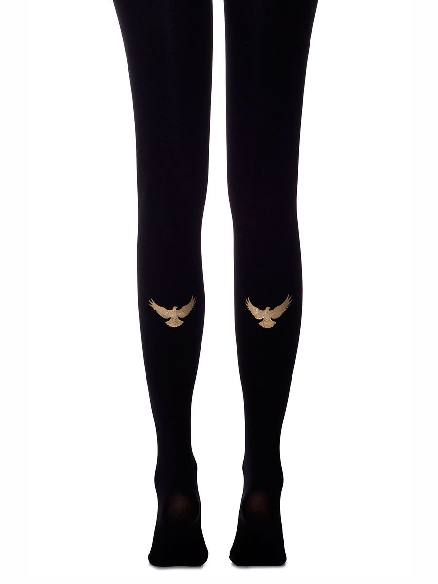 Golden Eagle Black Tights