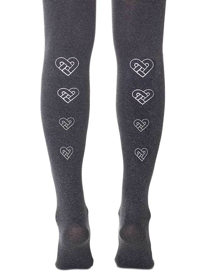 Love You, Love You Knot Heather Grey Tights