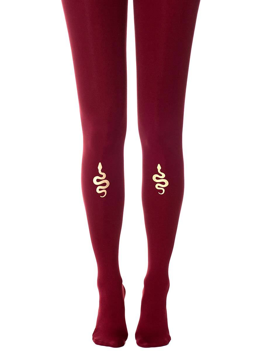 Cobra Burgundy Tights