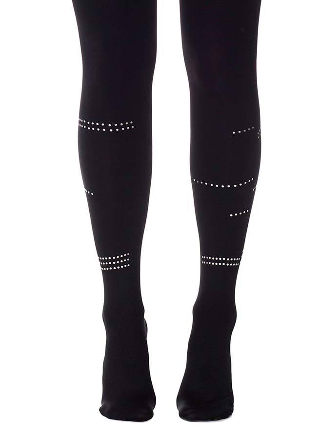 Connect the Dots Black Tights