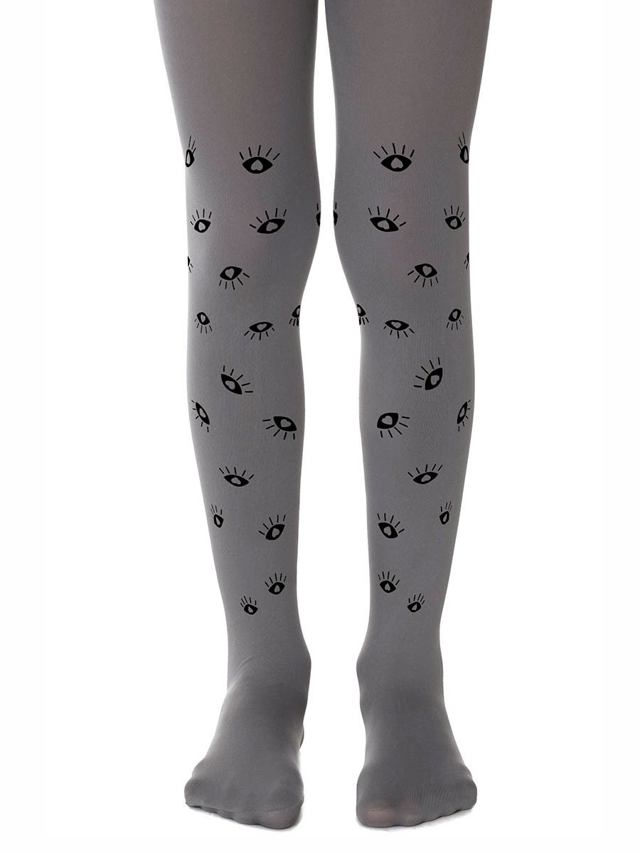 All Eyes on Us Grey Girls Tights