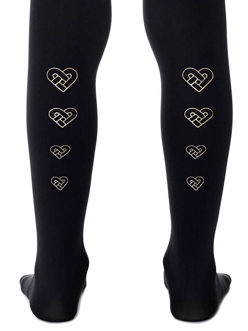 Love You, Love You Knot Black Girls Tights